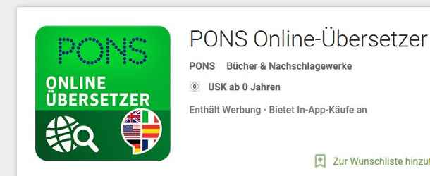 Pons Übersetzter